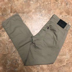 32 x 30 Levi's 511 Slim Fit Stretch Jeans (Khaki)